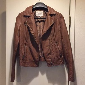 American Rag brown faux leather jacket size S